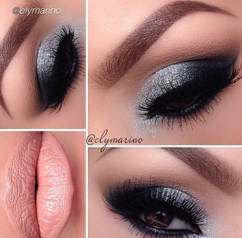 Black and Grey Make-up look