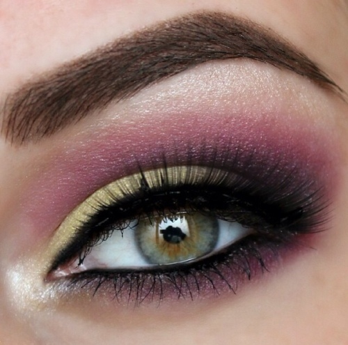 Yellow & Pink/Purple Make-up Look
