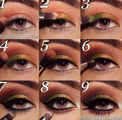 Make-up look tutorial nine steps