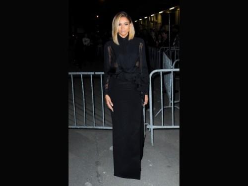 Ciara modeshow Givenchy