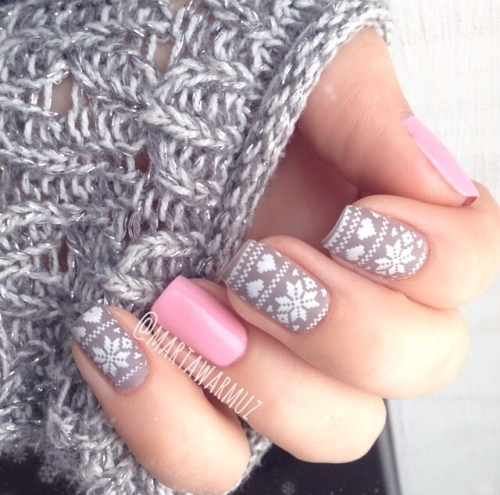 Winter nail-art