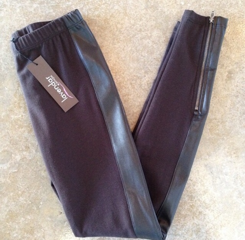 Lavendar Leather accent Legging