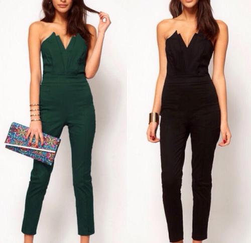 groene/zwarte jumpsuits Green/black