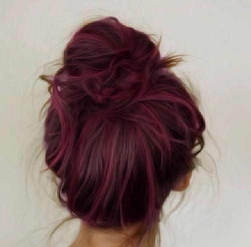 purple paars haar