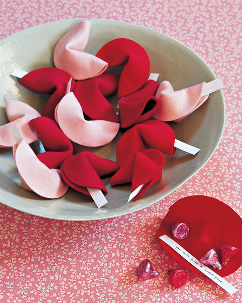 "Felt Fortune Cookies from ""The Martha Stewart Show"""