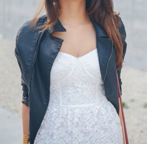Lace & Leather outfit