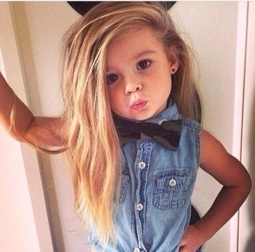 Cute Girl Denim Bow