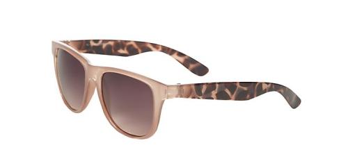 Mink Animal Print Retro Sunglasses New Look