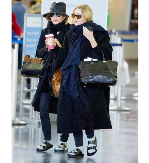 Mary Kate en Ashley. Olsen Twins, Witte sokken in sandalen