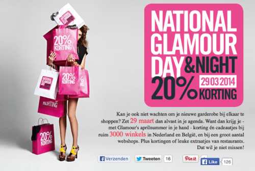 National Glamour Day & Night maart 2014