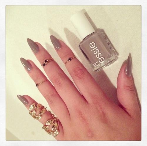 Essie taupe nails