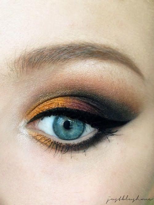 Oranje smokey eye