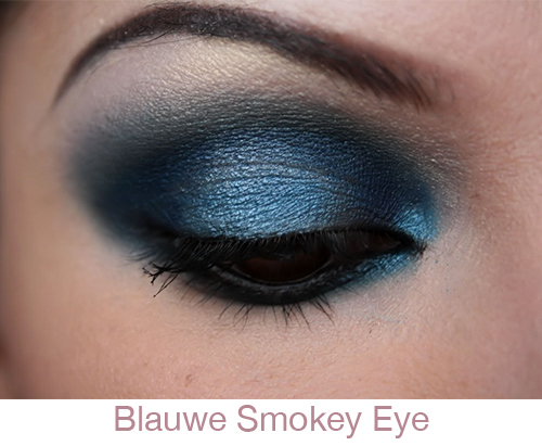 Blauwe smokey eye