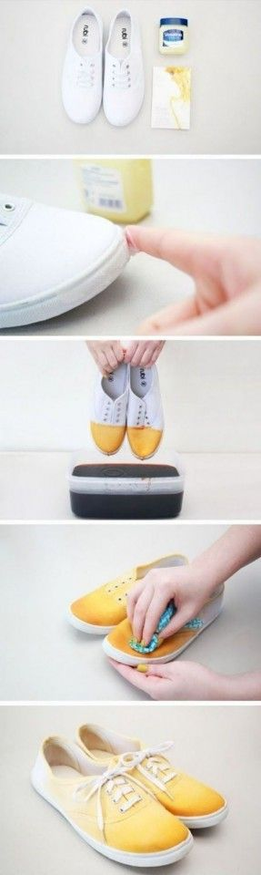 DIY Ombre shoes